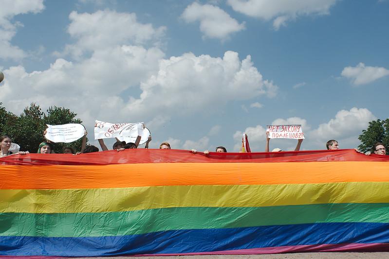 Gay Pride parade in St. Petersburg / Гей-парад в Санкт-Петербурге