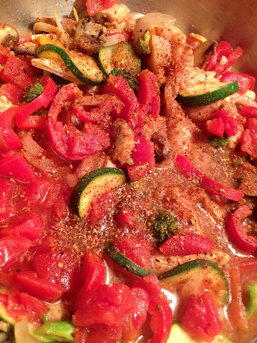 ratatouille cockatouille tomato sauce chicken spicy