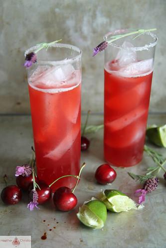 Cherry Lavender Beer Margarita
