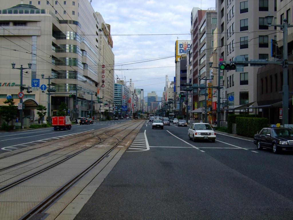 Streetcar track in Hiroshima