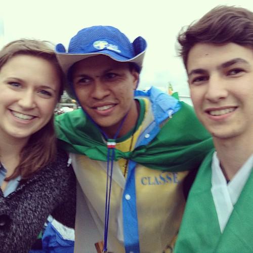 Alyssa with Italians