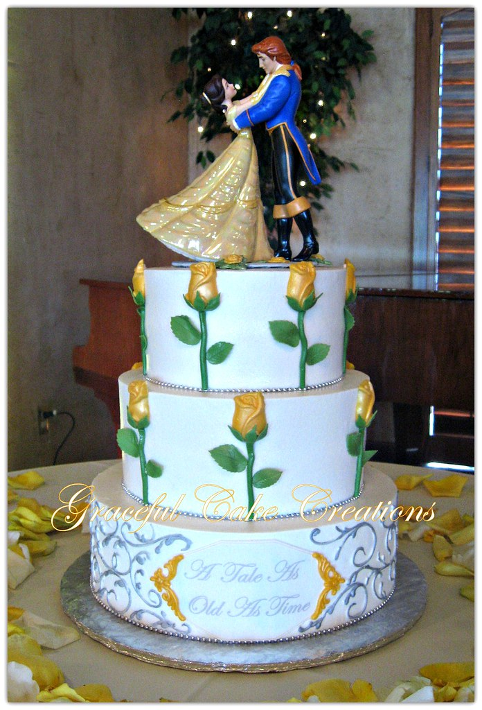 wedding cake beauty and the beast and the beast themed wedding cake a photo on 22000