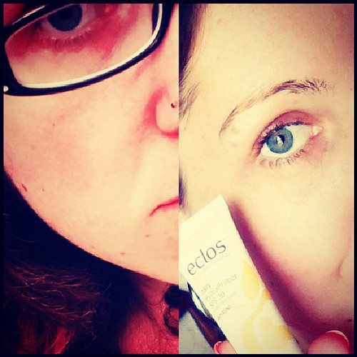 #EclosGoBare before & after: before: some blemishes, dry skin; after: smooth, awesome! @eclosbeauty