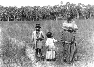 Fanny Stuart and children, Indian Prairie near Lake Okeechobee