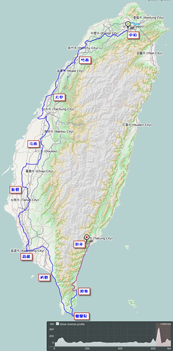 2011.10.09-17.單車環島.路線軌跡圖