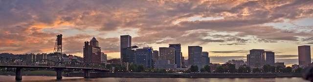 Portland Sunset Panorama1