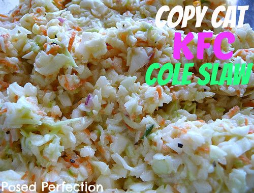 Copcat KFC Coleslaw from Posed Perfection
