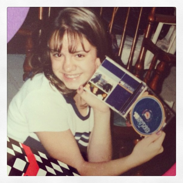 In honor of the #nsyncreunion here is a photo of teenaged Adiel and her very first @nsync cd! #tbt #throwbackthursday