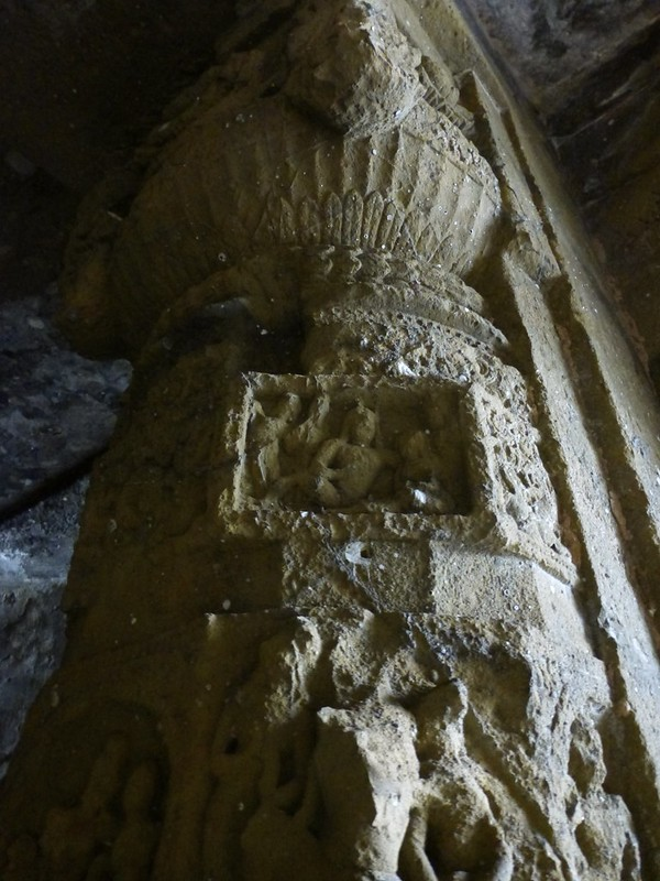 Mandapeshwar Caves - Carvings on the pillars