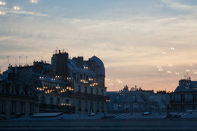 View at dusk from Musee d'Orsay