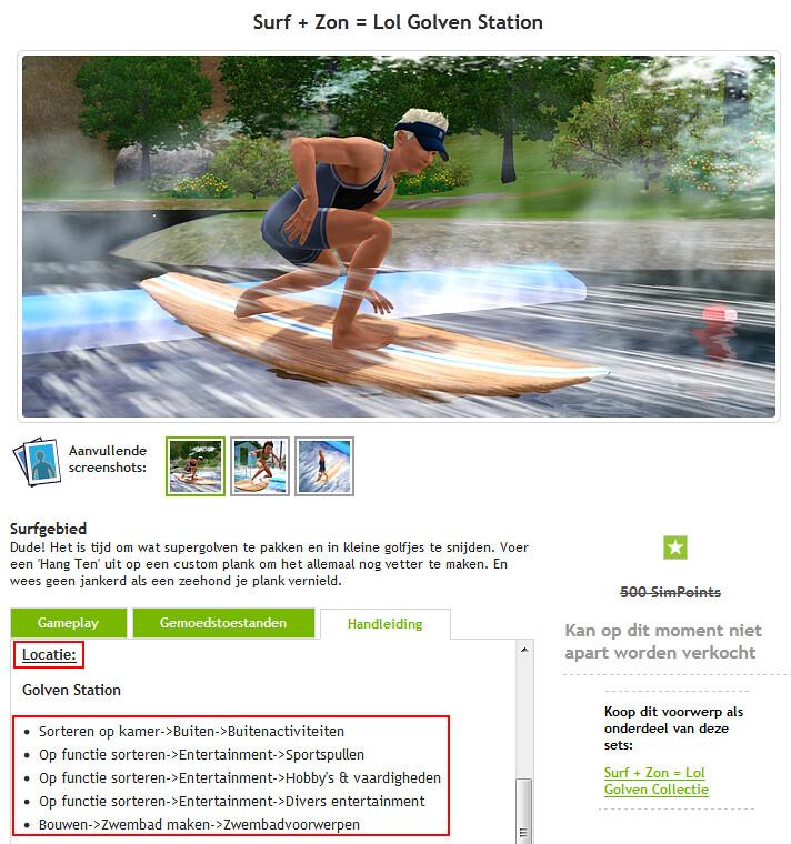 De Sims 3 locatie premiummateriaal