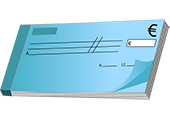 pictogramme paiement par chèque bancaire