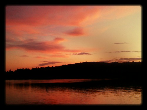 pink sunset lake silhouette peaceful lakejames flickrandroidapp:filter=salamander