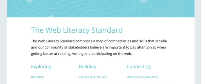 Web Literacy Standard on staging server