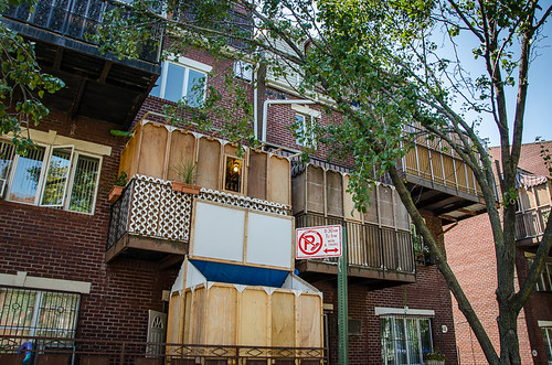 sukkah in Williamsburg, Brooklyn