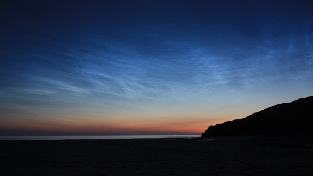 Noctilucent clouds from Sandwood Bay
