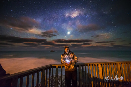 Selfie, photobombed by the Milky Way and Venus (EXPLORED) by Mikey Mack