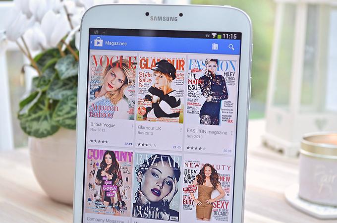 samsung galaxy tab 3 magazine app store
