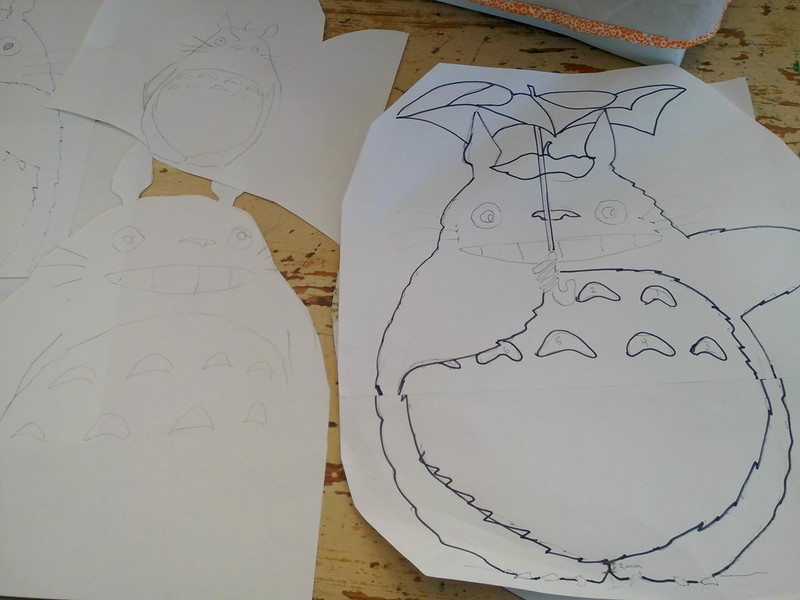 Totoro sketches and a tracing