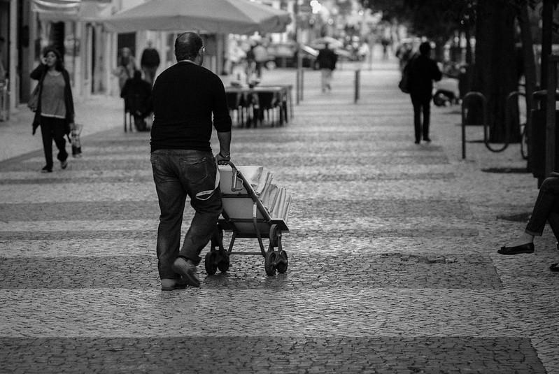 Apontamentos de Lisboa em dia de Greve