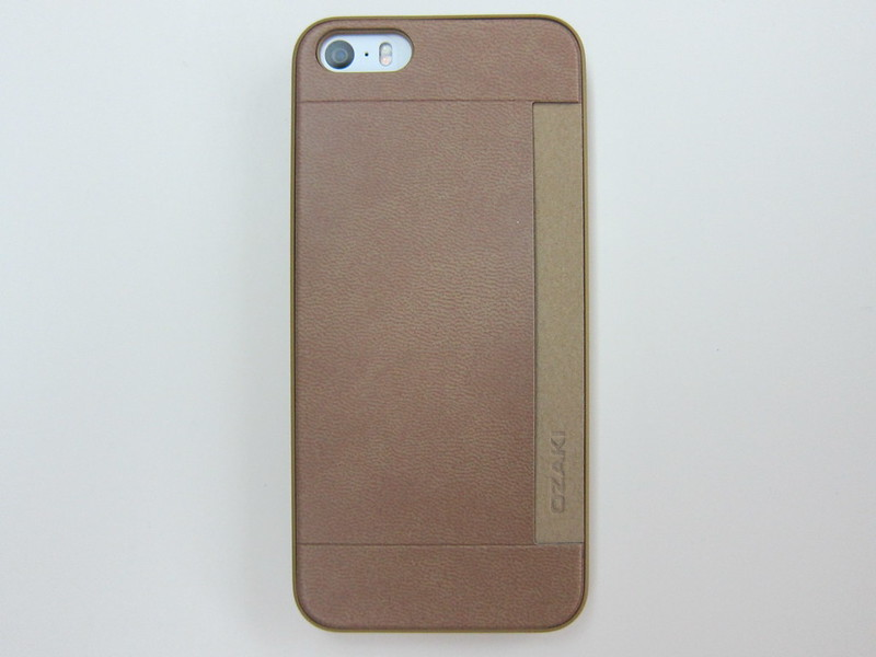 Ozaki O!coat 0.3+Pocket - Back View With iPhone 5s