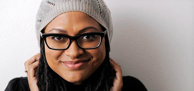 Ava Duvernay is a young black woman wearing a knit hat