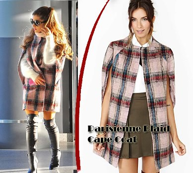 Over the knee boots, tartan & Cape Trend: Autumn-winter trend