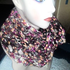#justfinished earthy boo infinity scarf #forsale $15 #style #art #fashion #crochet