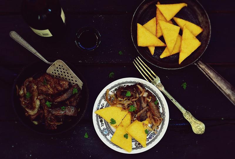 polenta and fried liver.1