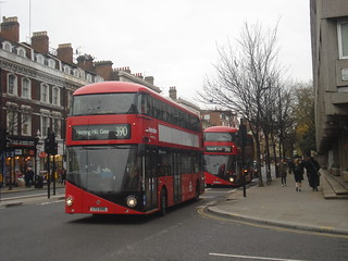Metroline LT96, LT10 on Route 390, Notting Hill Gate