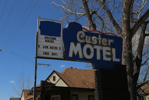 Custer South Dakota, Motel Sign, Custer County SD