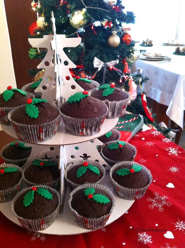 kakaolu yılbaşı cupcakeleri