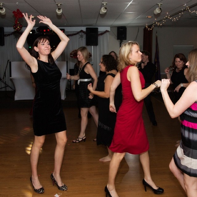 Just one of many, and I mean many, work holiday party photos where I'm rocking the crazy arms...and the dance floor.