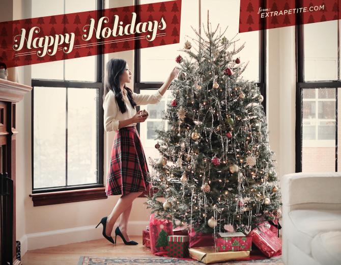 christmas skirt happy holidays