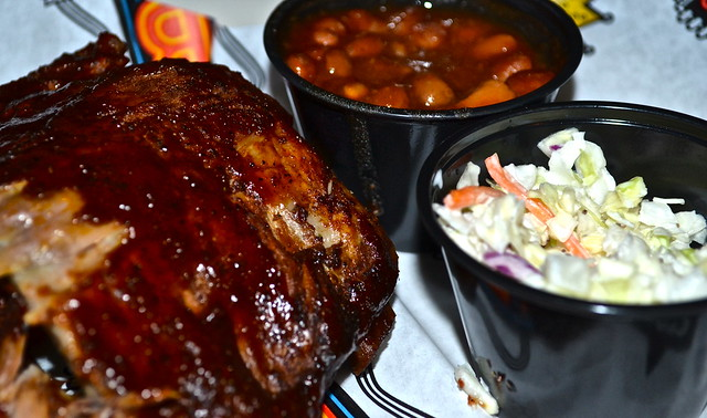 BB Kings Live Music and Dinner, West Palm Beach - ribs and beans