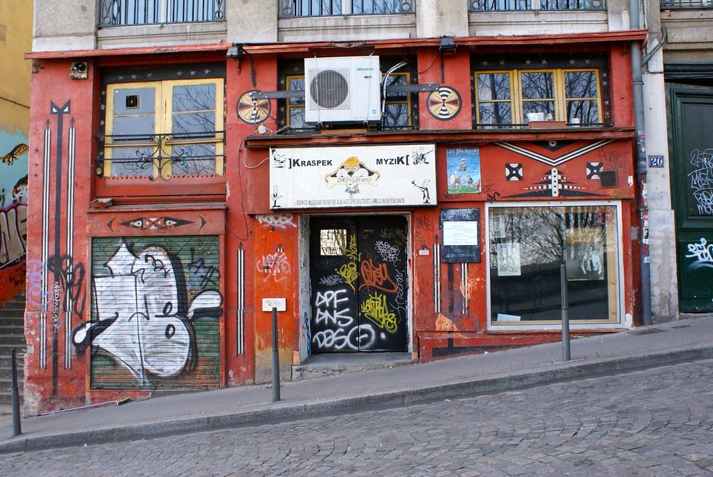 Kraspek Myzik espace musique réservée aux auto produits et labels indépendants à Lyon sur les pentes de la Croix Rousse