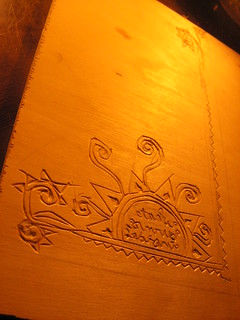 block print carving for journal covers