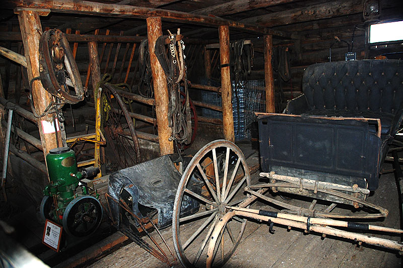 Carriage at 108 Mile Ranch Heritage Site, Highway 97, Cariboo, British Columbia, Canada