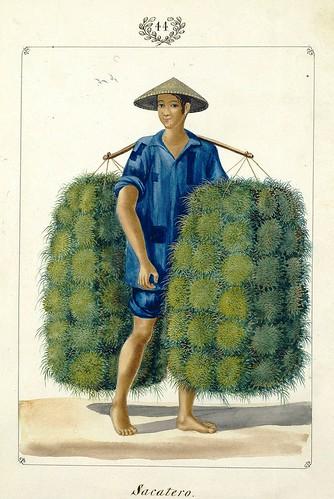 012-Sacatero -Vistas de las Yslas Filipinas y Trages…1847-J.H. Lozano- Biblioteca Digital Hispánica