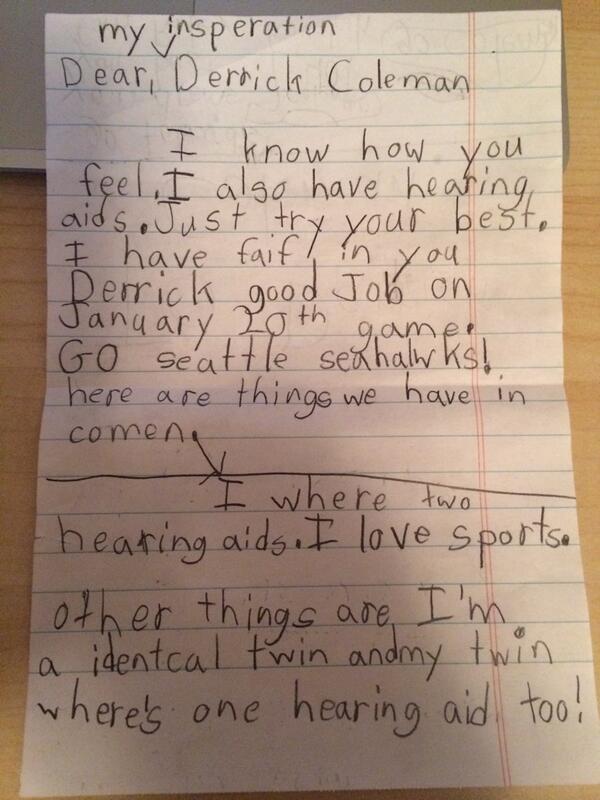 Derrick Coleman letter