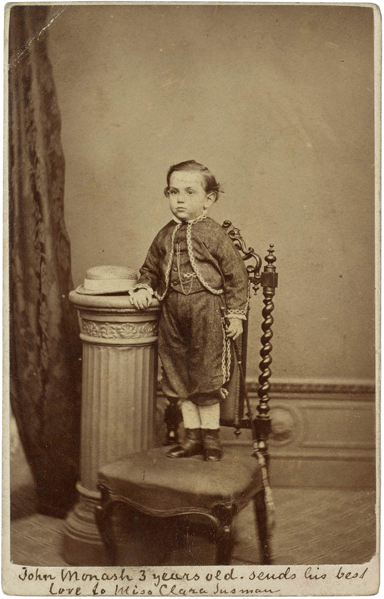 John Monash 3 years old [1868] / Davies & Co., Photographers, Melbourne