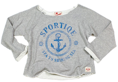 Womens Wide Neck Maritime T-Shirt