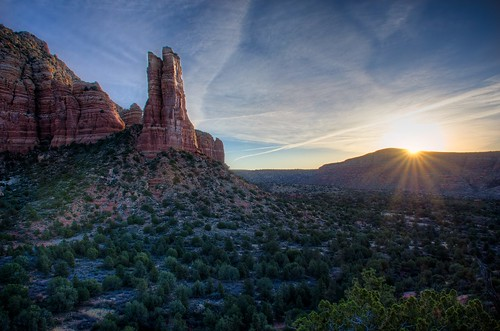 sunset red arizona mountain clouds sunrise landscape pillar sedona az michaelwilson michaelwilsoncom