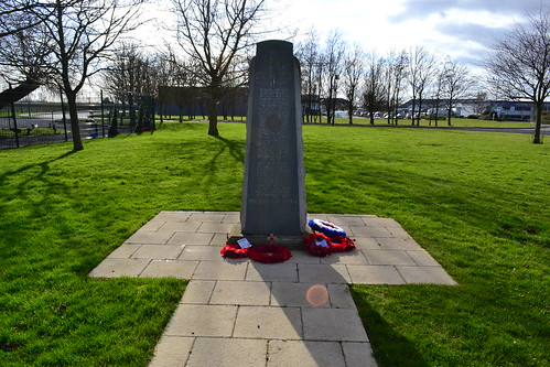 RAF Witchford memorial looking south