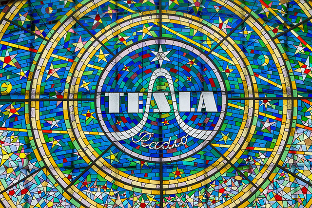 Tesla Radio Stained Glass