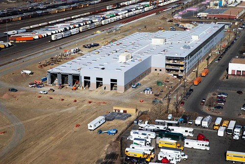 Aerial photo of commuter rail maintenance facility - Dec. 26, 2014