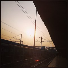 #train #railway #station #evening #travel #india