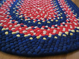 Custom Nautical Oval Braided Rug