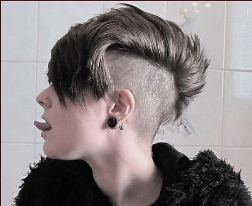 Very Short Shaved Nape Bob Haircut
