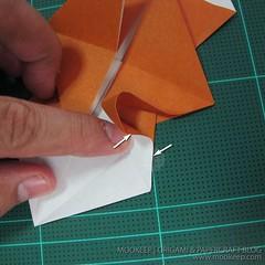 วิธีพับกระดาษเป็นรูปหมี (Origami Bear) 006